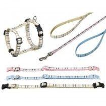 Collar-Tartán-10-mm-20-35-cm-Azul-Ajustable-Nylon
