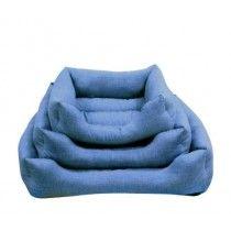 Cuna-Mullida-Cuadrada-Azul-para-Perros