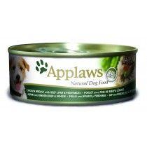 Applaws-Lata-Pechuga-de-Pollo-con-Hígado-de-Ternera-y-Vegetales-para-Perros