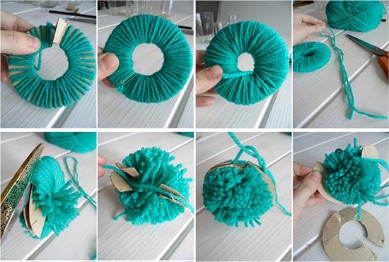 Juguetes caseros para gatos con materiales reciclados - Como se hacen los pompones ...